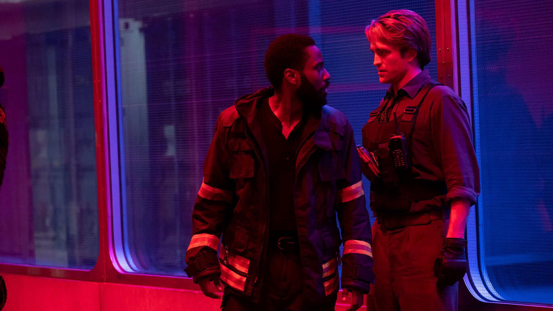 Tenet (2020) Still of John David Washington and Robert Pattinson