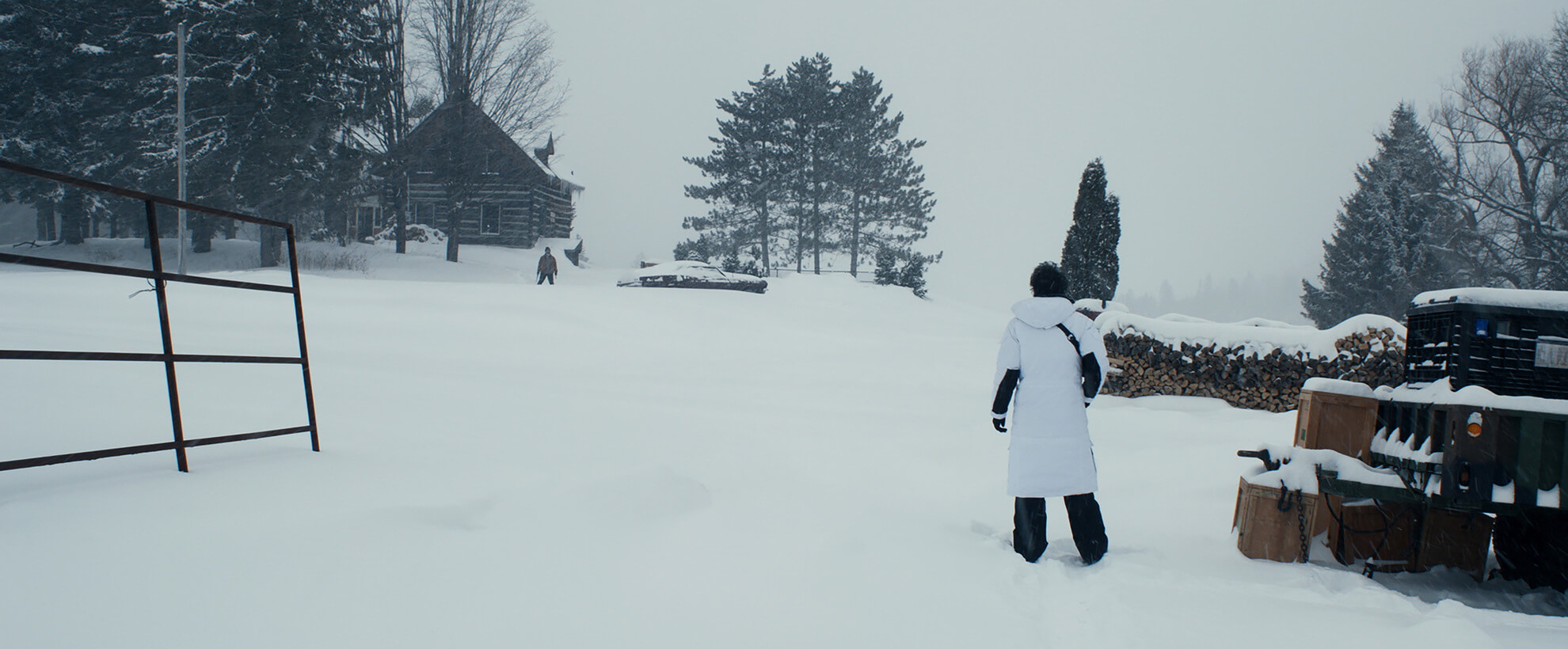 In the snow - still from Fatman (2020)