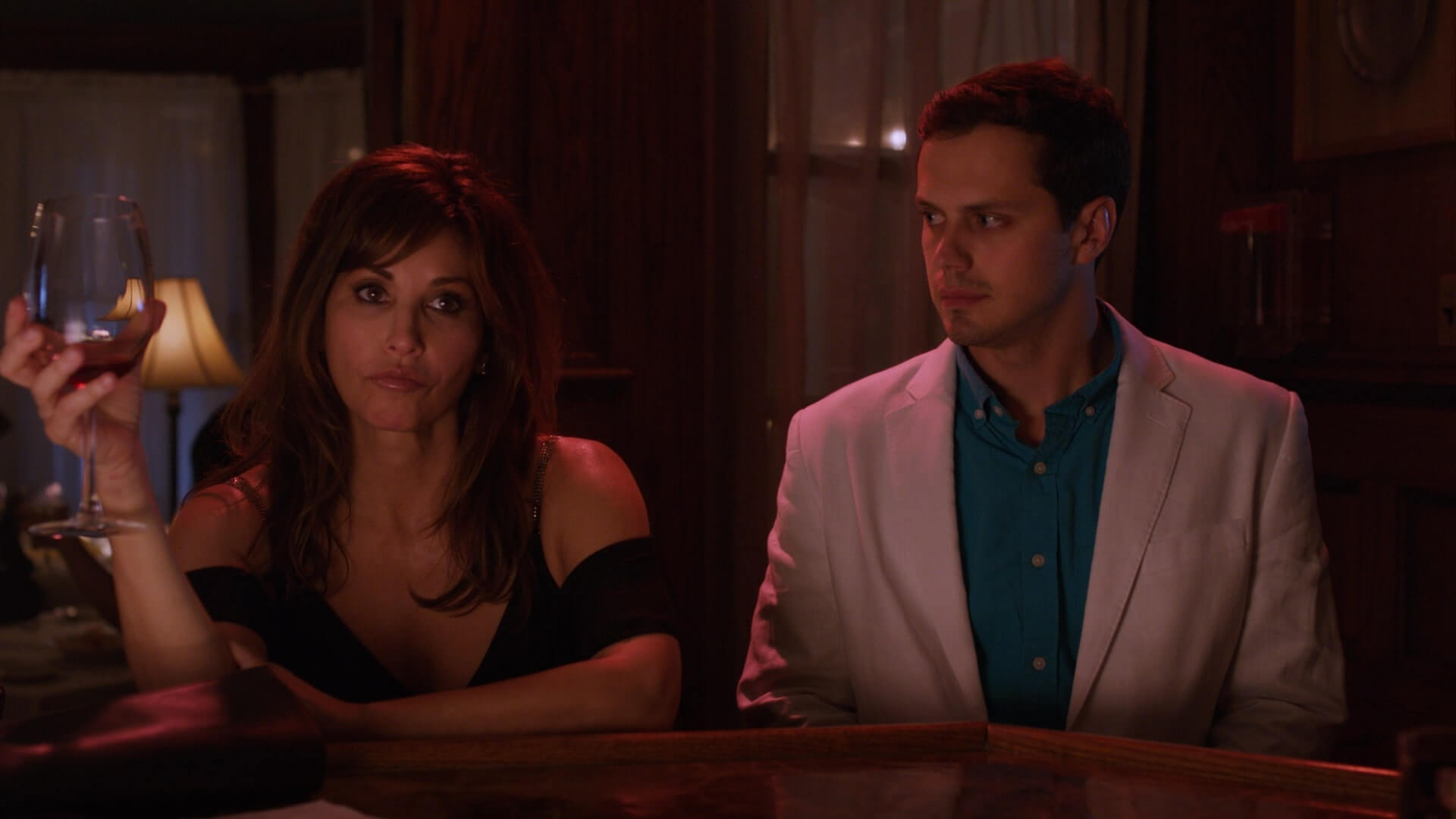 Gina Gershon and Jake Robinson in 'The Mimic'