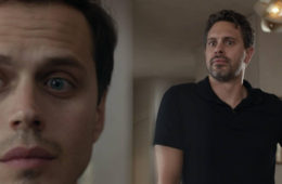 Jake Robinson and Thomas Sadoski in 'The Mimic'