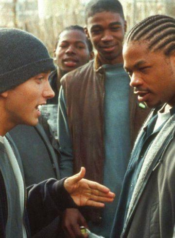 Xzibit and Eminem in rap battle in 8 Mile (2002)