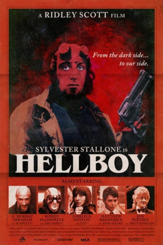 Sylvester Stallone, Hellboy (2004), Ridley Scott - Modern Films Re-Imagined into Classic Posters