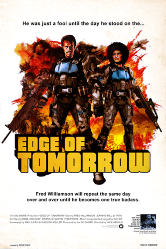 Edge of Tomorrow (2014), Fred Williamson - Modern Films Re-Imagined into Classic Movie Posters