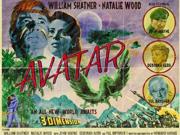 William Shatner, Natalie Wood, Avatar (2009) Howard Hawks - Modern Films Re-Imagined into Classic Posters