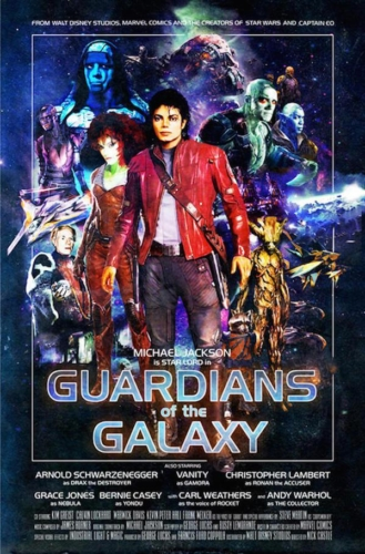 Guardians of the Galaxy (2014), Michael Jackson - Modern Films Re-Imagined into Classic Posters
