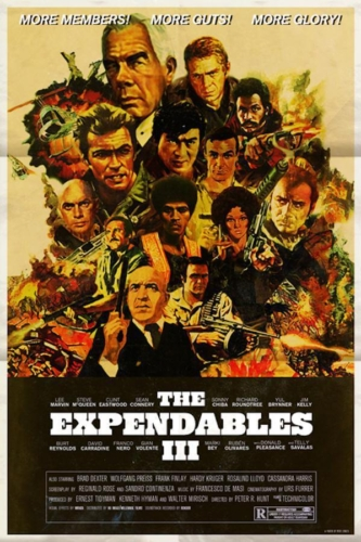 The Expendables 2 (2012) - Modern Films Re-Imagined into Classic Posters