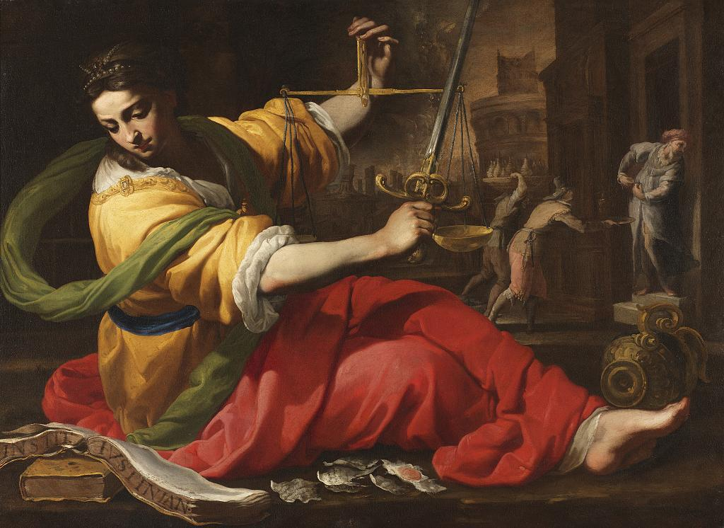Bernardino Mei, 1612-1676, Allegory of Justice, 1656