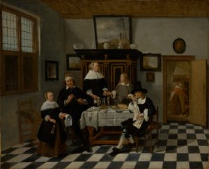 Quiringh Gerritsz. van Brekelenkam (Dutch, after 1622 - about 1669), Family Group in an Interior, Dutch, about 1658 - 1660, courtesy The J. Paul Getty Museum, Los Angeles.