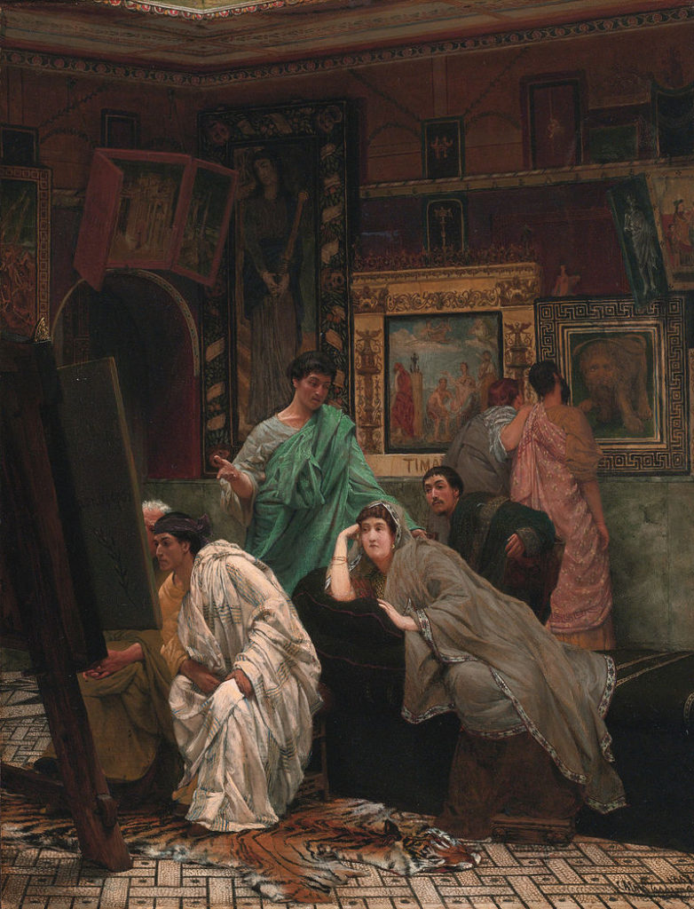 Lawrence Alma-Tadema, A Collection of Pictures at the Time of Augustus