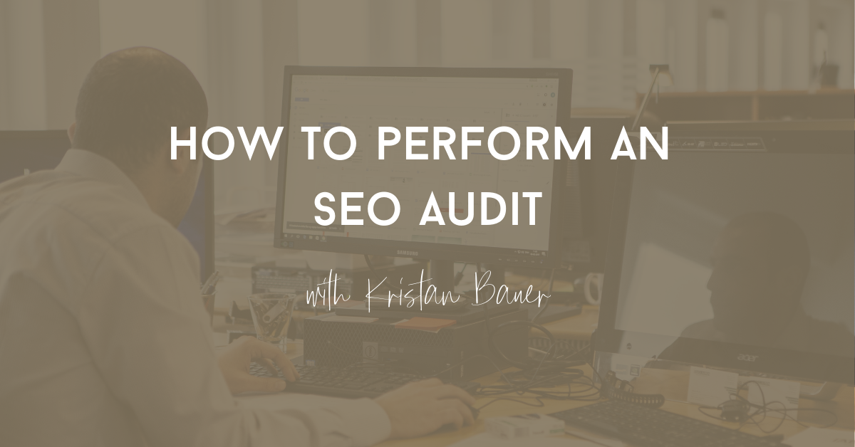 perform an seo audit
