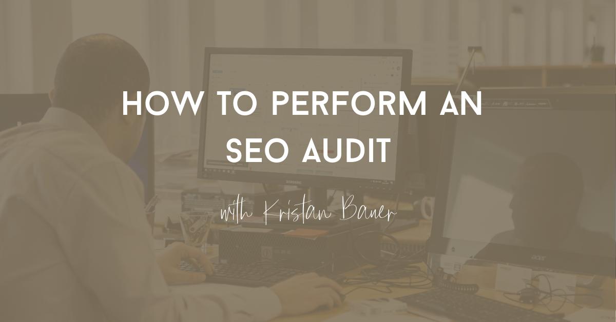 perform an seo audit