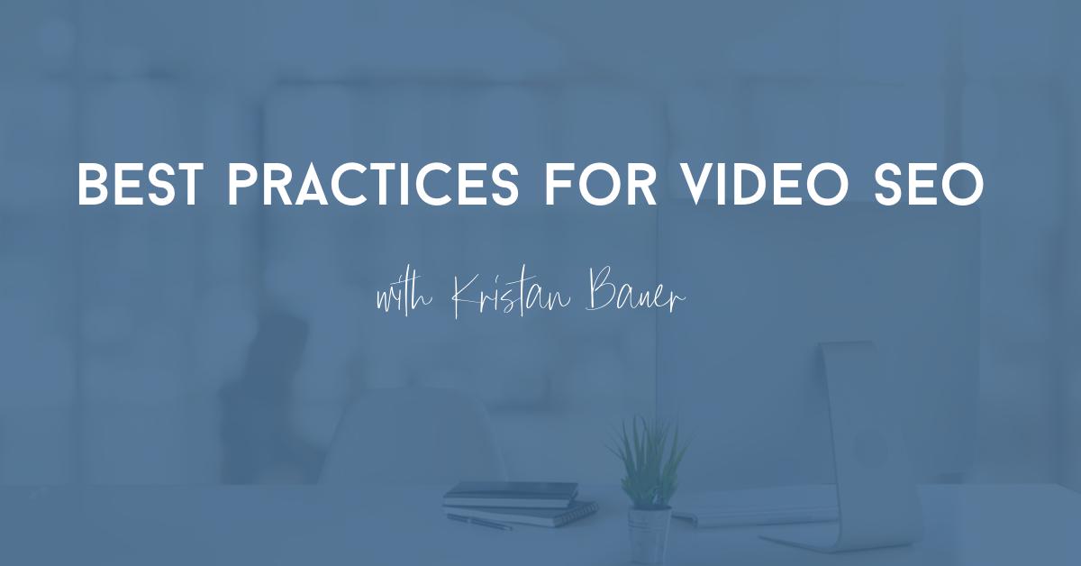 best tips for video seo