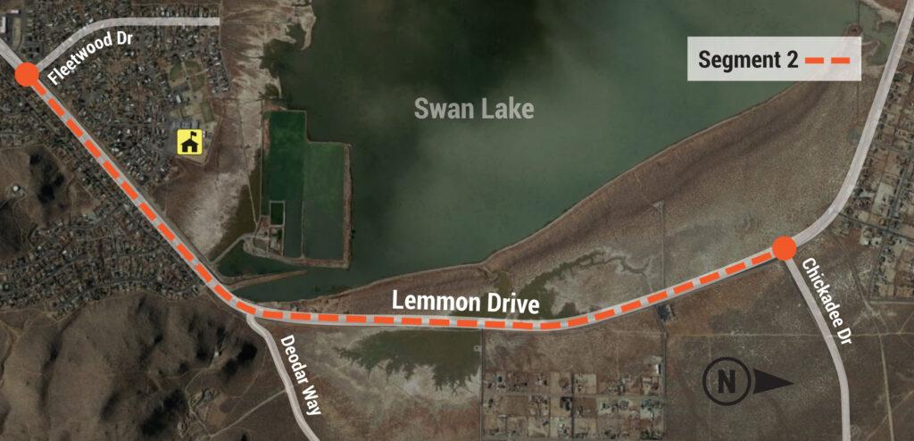 Map of Lemmon Drive Project Segment 2