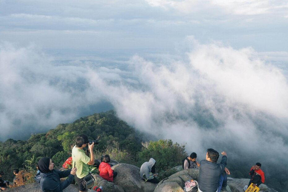 Magnificent view above the clouds at Gunung Datuk peak