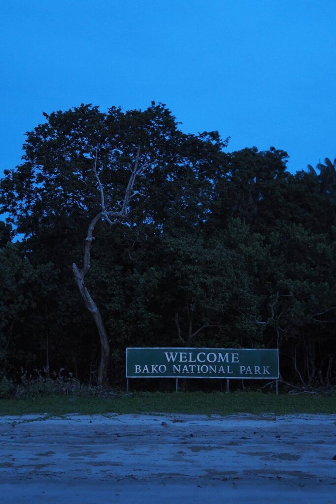 Welcome Bako National Park sign at the hq