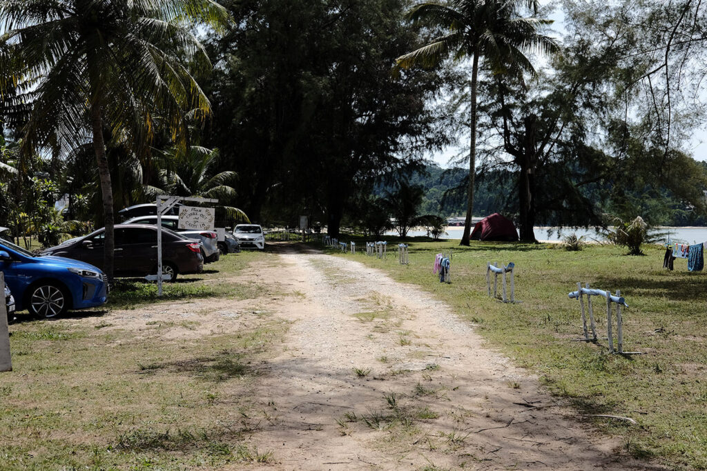 Road leading to payung getaway campsite