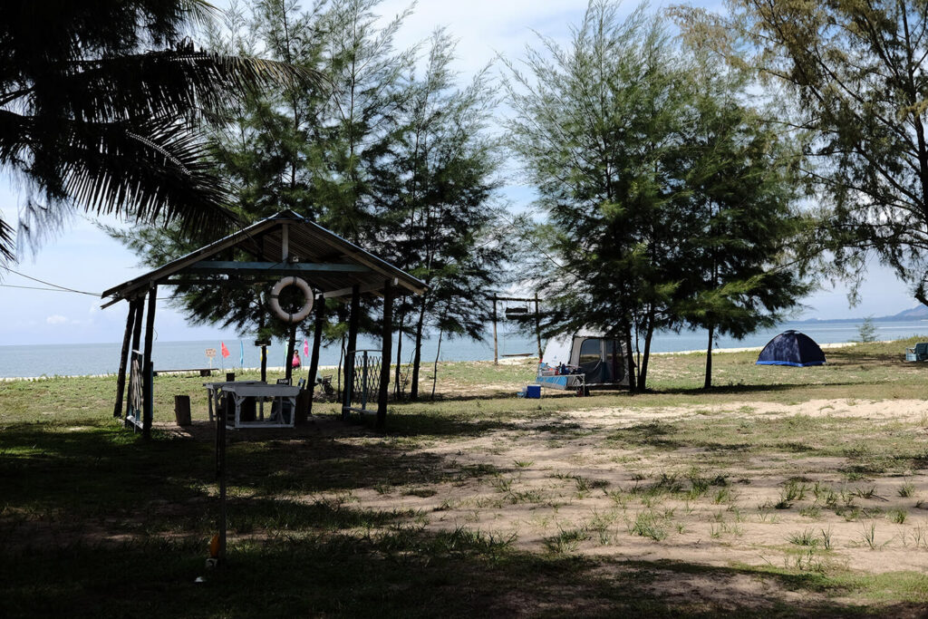 Campground at the beach front