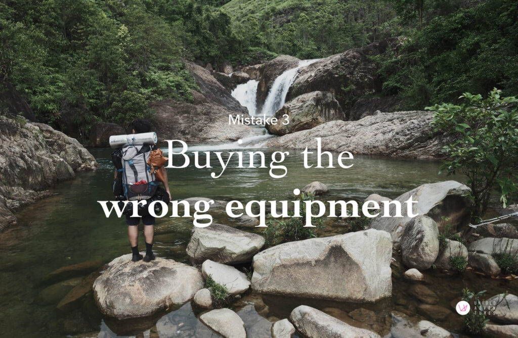 Buying the wrong equipment