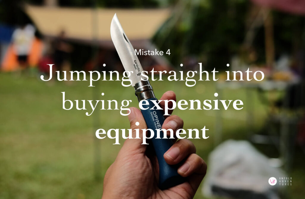 Jumping straight into buying expensive equipment