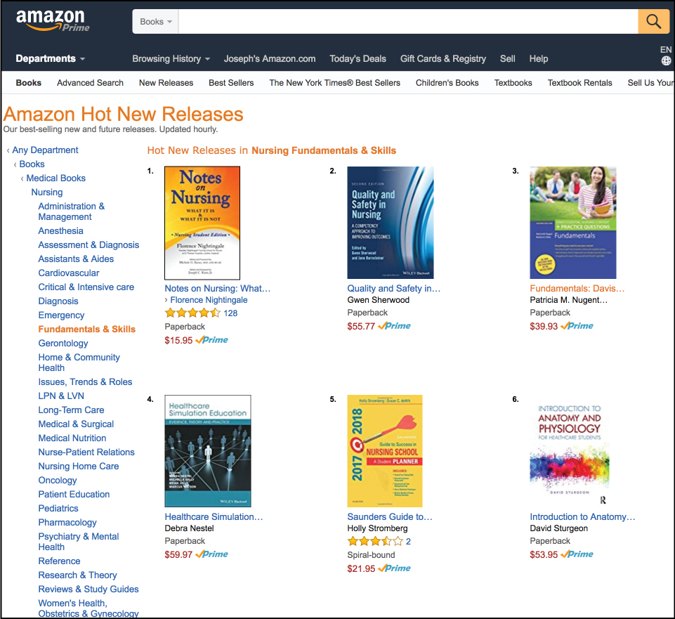 "Amazon Hot New Releases List for ""Notes On Nursing"""