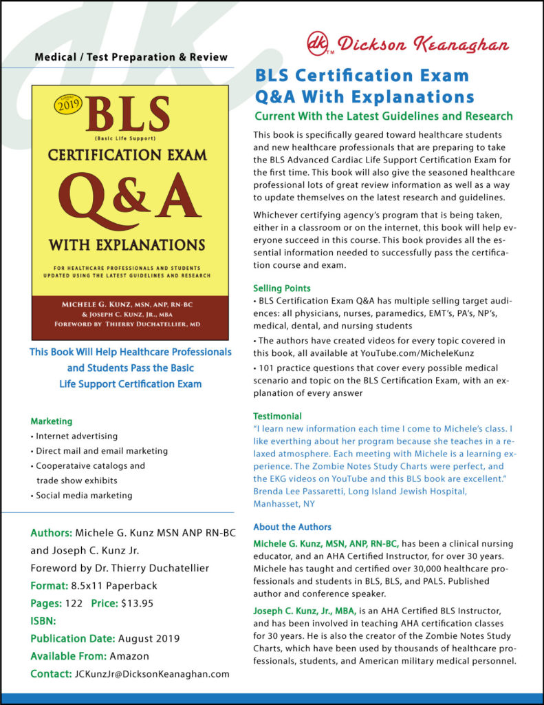 Sell Sheet for BLS Certification Exam Q&A With Explanations 2019 book