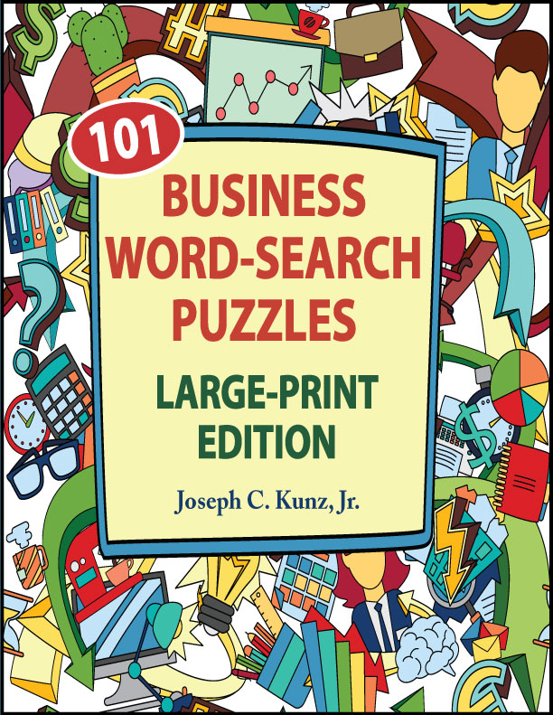 Business Word Search Large Print Book cover front