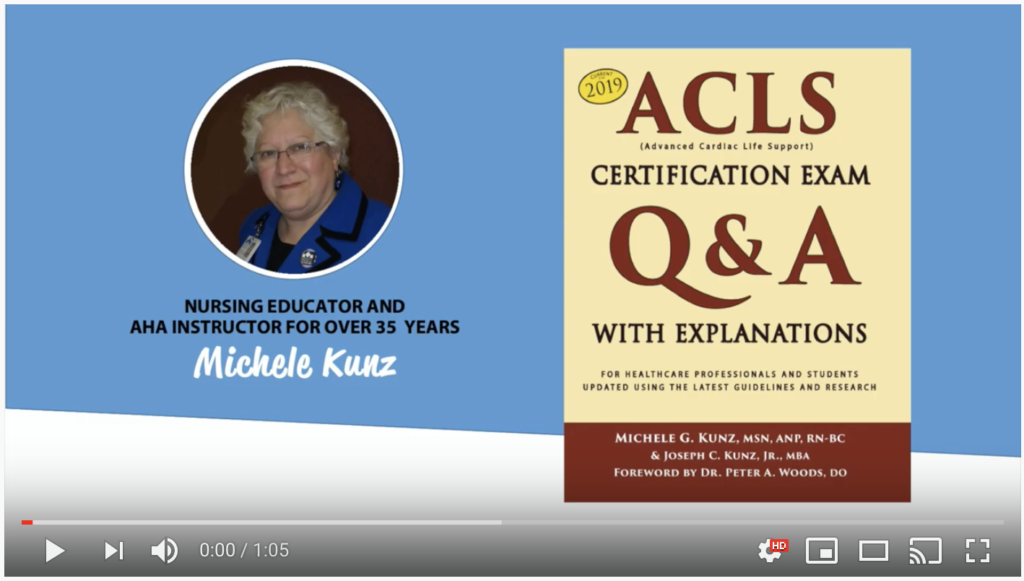 ACLS Certification Exam Q&A Book for 2019 YouTube Video