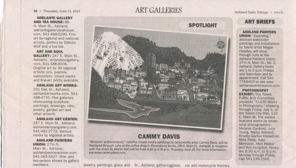 Ashland Revels showing Ashland Artistic Map by Cammy Davis
