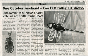 The Valley Times in Kerby, OR, Edgy in October