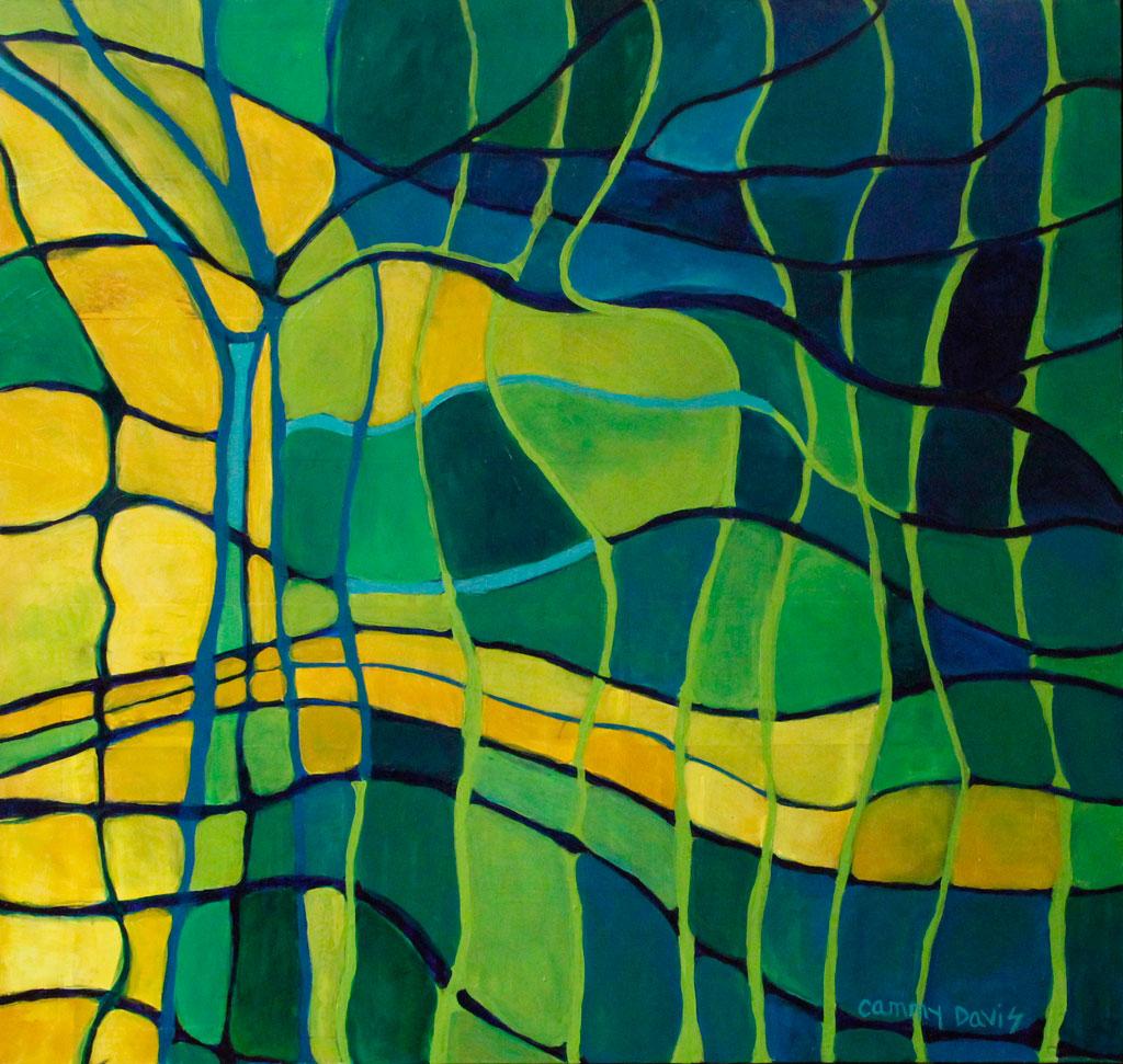 Rhythm of the Sea, Mixed Media Abstract by Cammy Davis, Oregon Artist