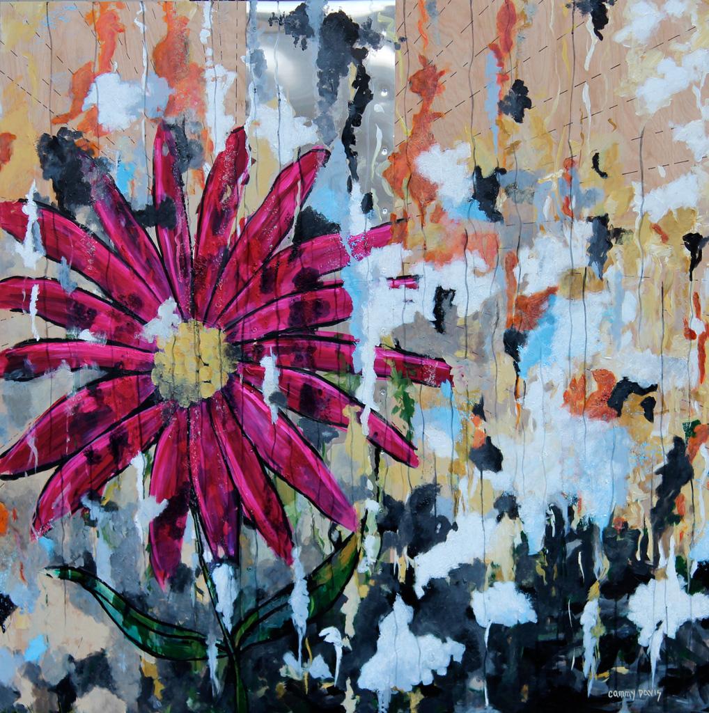 The Pink Flower by Oregon Artist Cammy Davis