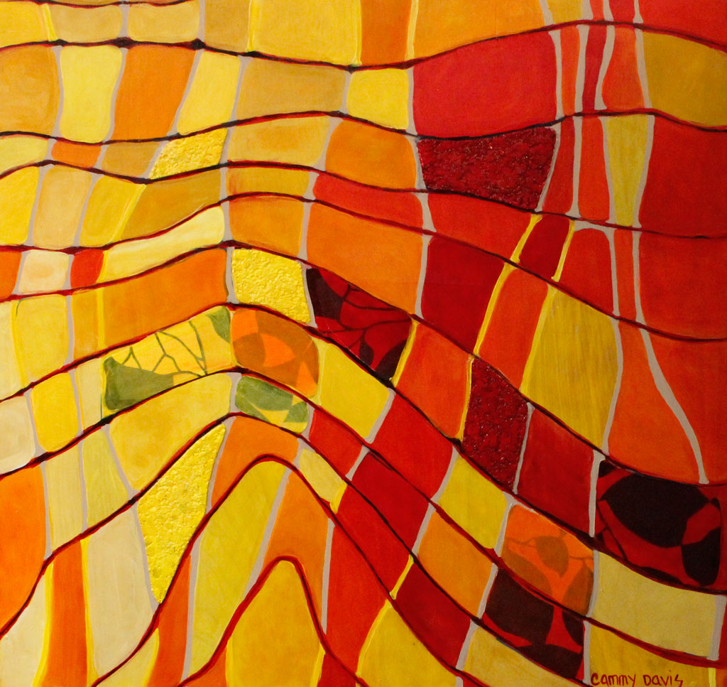 Touching Sunshine New Abstract Painting by Cammy Davis, Southern Oregon Artist