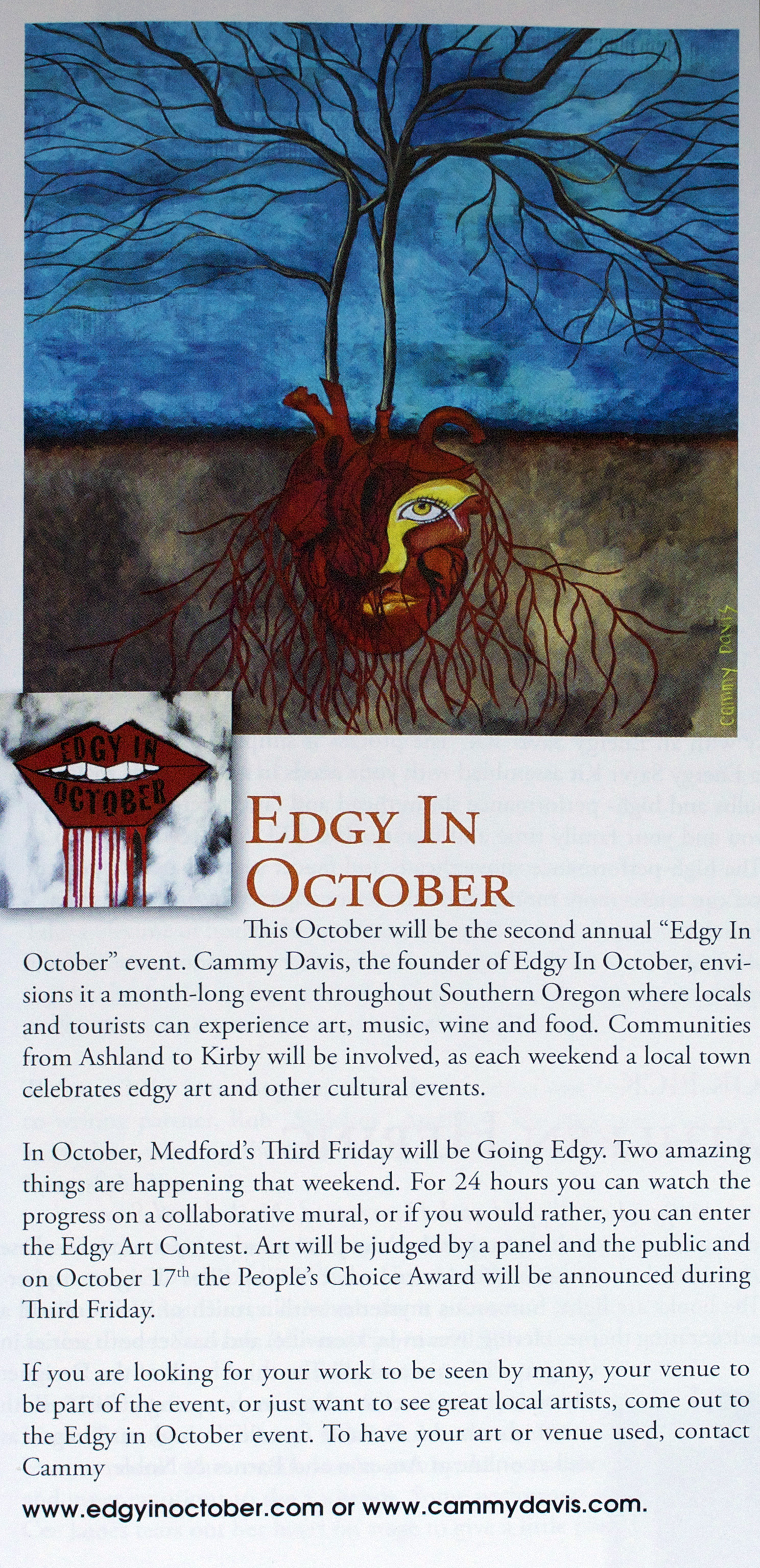 Edgy in October in Southern Oregon Magazine