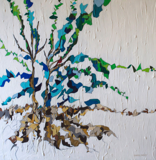 Tree and Roots Painting by Mixed Media Artist Cammy Davis