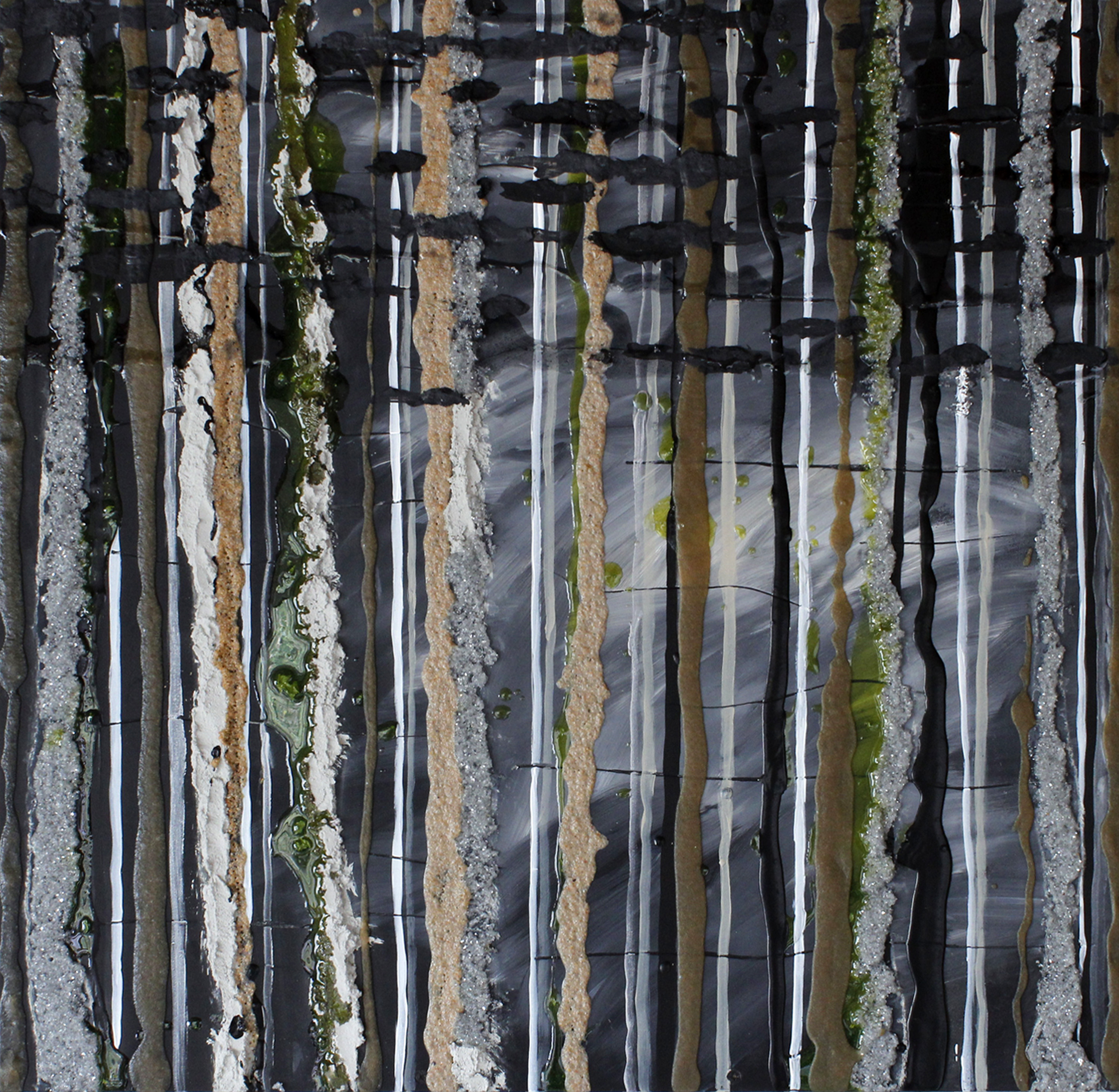 trees, abstract, contemporary, modern art, texture