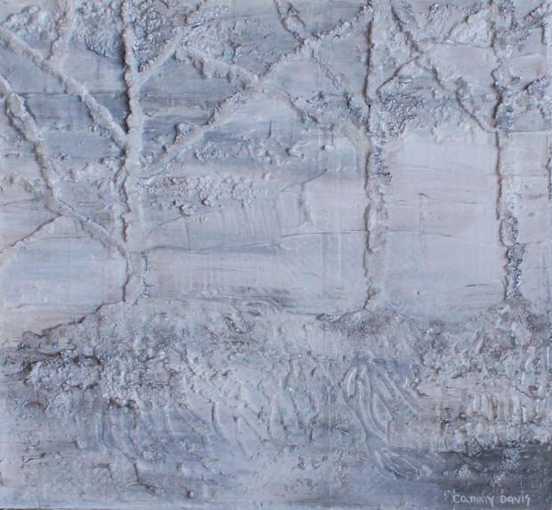 Texture in Art, Sand, Resin, Plaster, White, Silver, Grey
