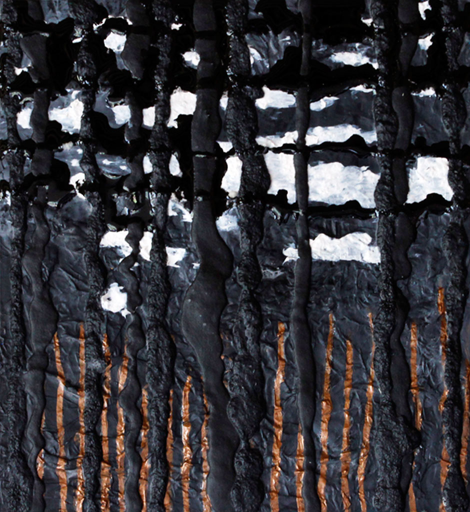 Abstract Art, Black, Trees, Bold, Texture, Modern