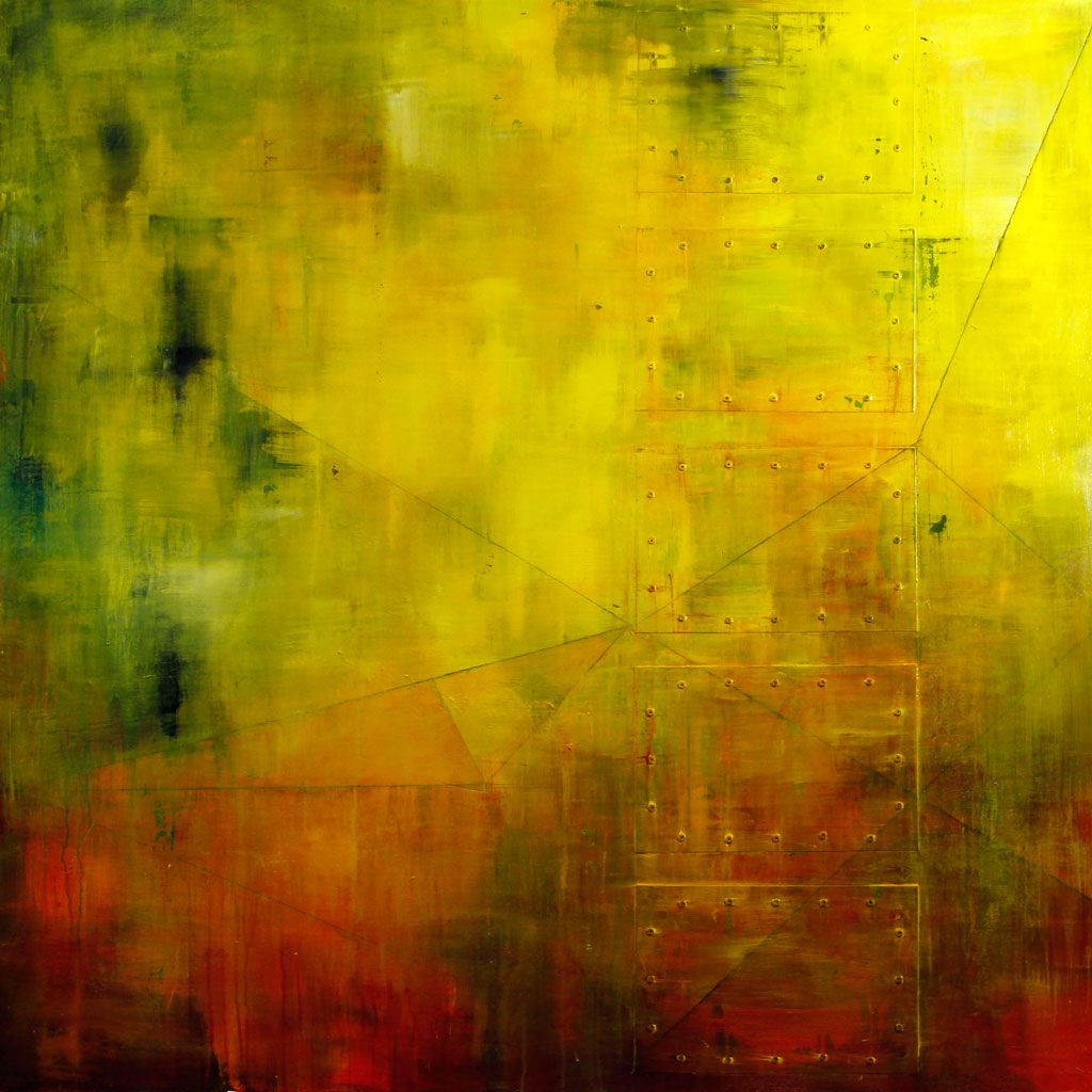 Abstract Expressionism, Brushstrokes, Texture, Metal, Yellow, Ed