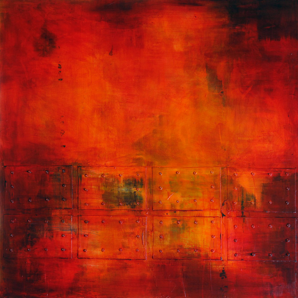 Abstract Expressionism, Contemporary Art, Painting, Acrylic, Red, Orange