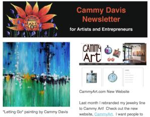 Cammy Davis Artist Newsletter