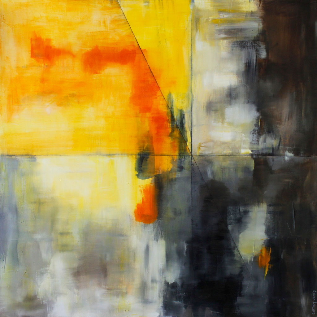 Southern Oregon Art, Mixed Media, Texture, Yellow, Gold, Black, Abstract Expressionism
