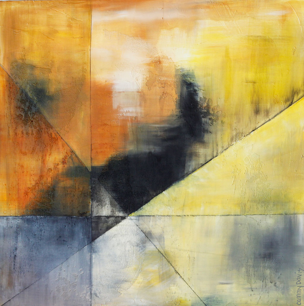 Yellow, Gold, Texture, Abstract Expressionism, Fine Art