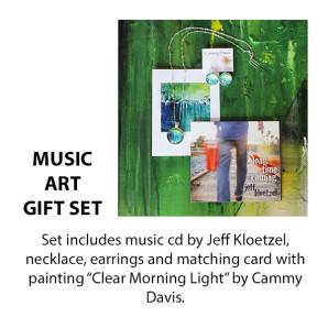 CD by Jeff Kloetzel, Necklace, Earrings, Card by Oregon Artist Cammy Davis