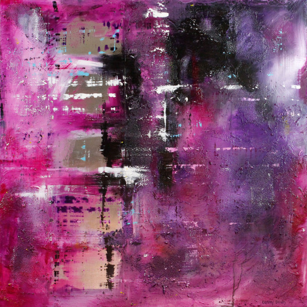 Abstract Expressionism, Pink, Purple, Emotional Art, Textues