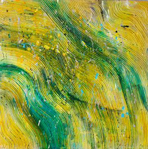 Yellow, Sun, Sunshine, Nature, Abstract, Contemporary, Mixed Media