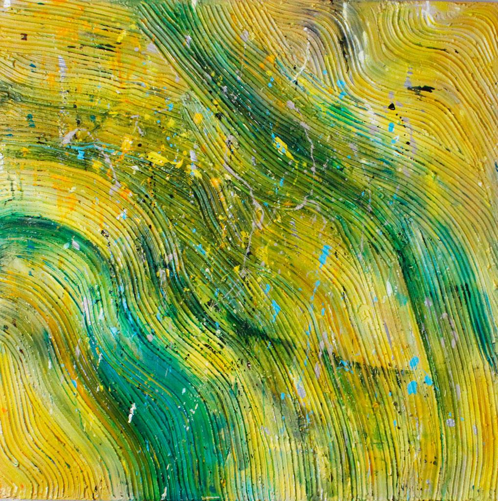 Yellow, Sun, Sunshine, Nature, Abstract, Contemporary, Mixed Media