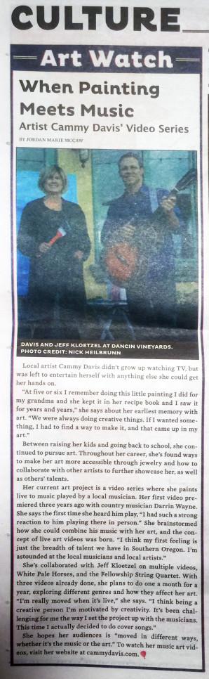 Jeff Kloetzel, Art and Music, Music Video, Art Video, Live Painting