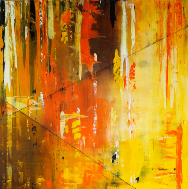 Art to Music, Live Painting, Paul Turnipseed, Orange, Abstract Expressionism