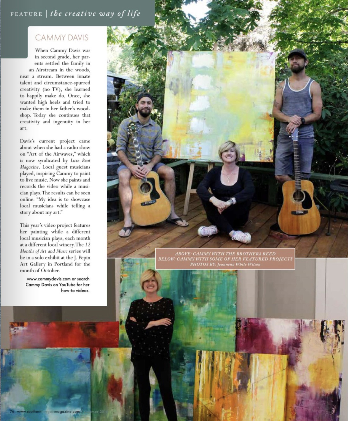 Artists, Southern Oregon, Art, Oregon, Featured Artist, Abstract Expressionism, Magazine, Press, Article, Medford, Rogue Valley