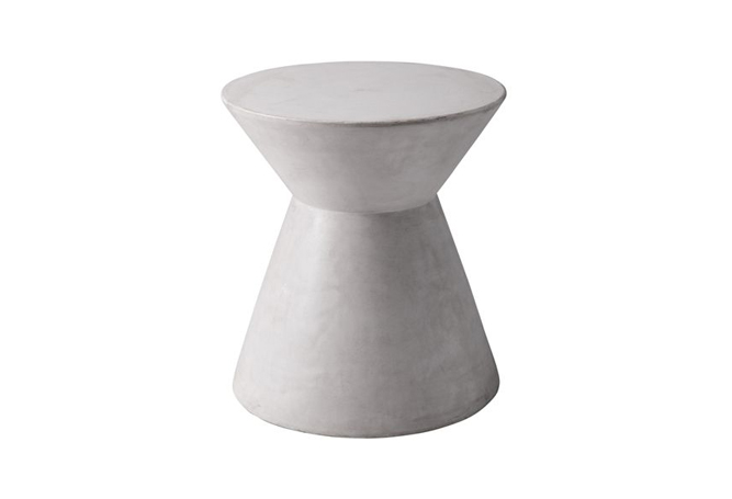 Astle End Table - White